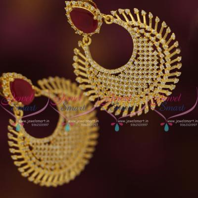 ruby-white-cz-chand-bali-style-fashion-jewellery-earrings-diamond-finish-gold-plated