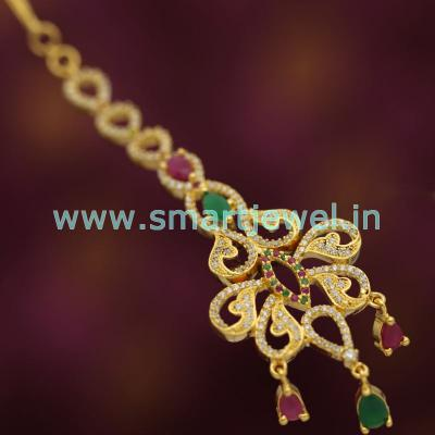 maang-tikka-ruby-emerald-cz-latest-traditional-wedding-jewellery-buy-online-imitation