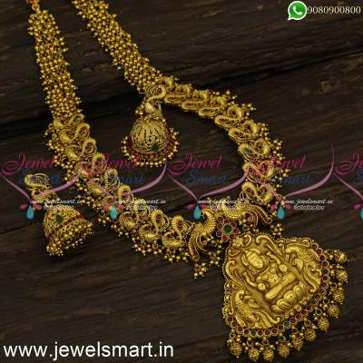 Smartjewel South Indian Antique Temple Jewellery Glamorous One Gram Long Necklace Online