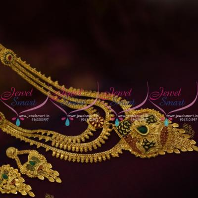 forming-gold-plated-handmade-meenakari-fancy-multi-layer-haram-buy-online