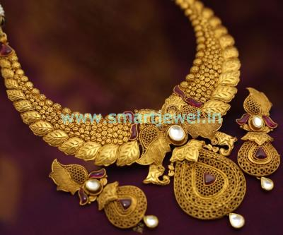 smartjewel-light-one-gram-gold-finish-antique-plated-jadau-kundan-kemp-stones-premium-jewelsmart