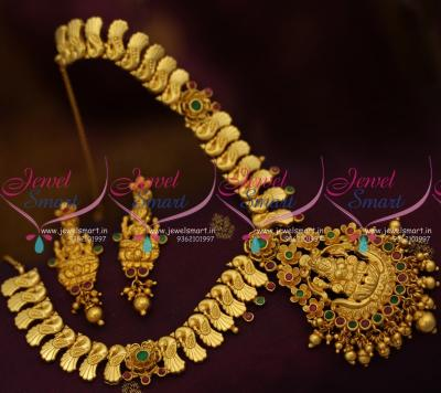 latest-one-gram-peacock-design-chain-temple-pendant-short-necklace-traditional-gold-one-gram-jewellery