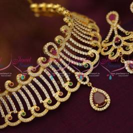 beautiful-cz-ruby-emerald-choker-necklace-wedding-jewellery-buy-online-latest-designs